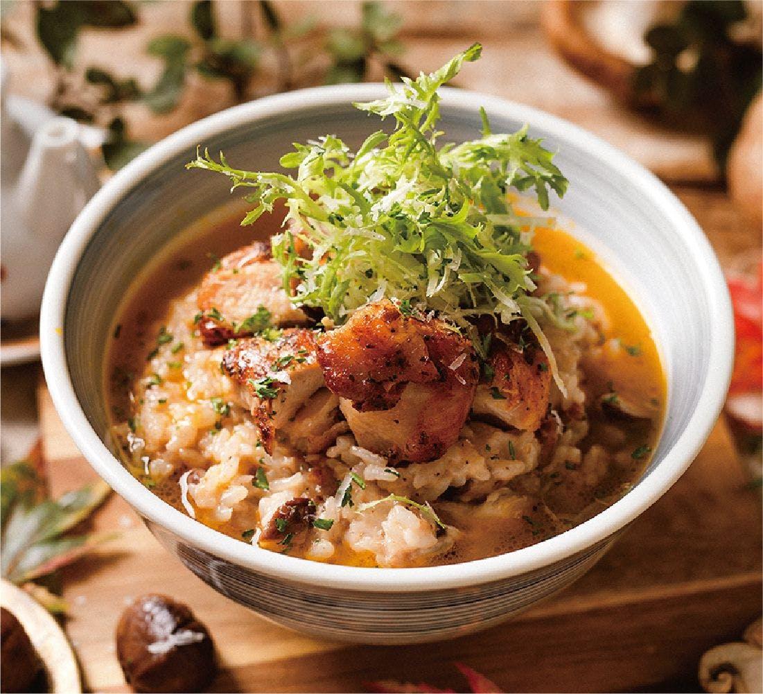 香煎嫩雞栗子湯丼飯