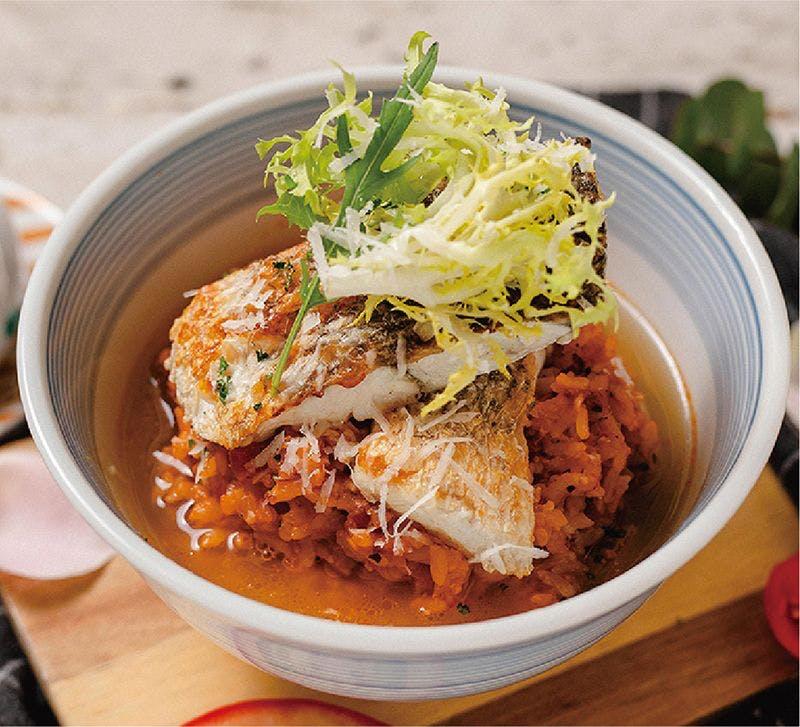 帕瑪鱸魚茄汁湯丼飯