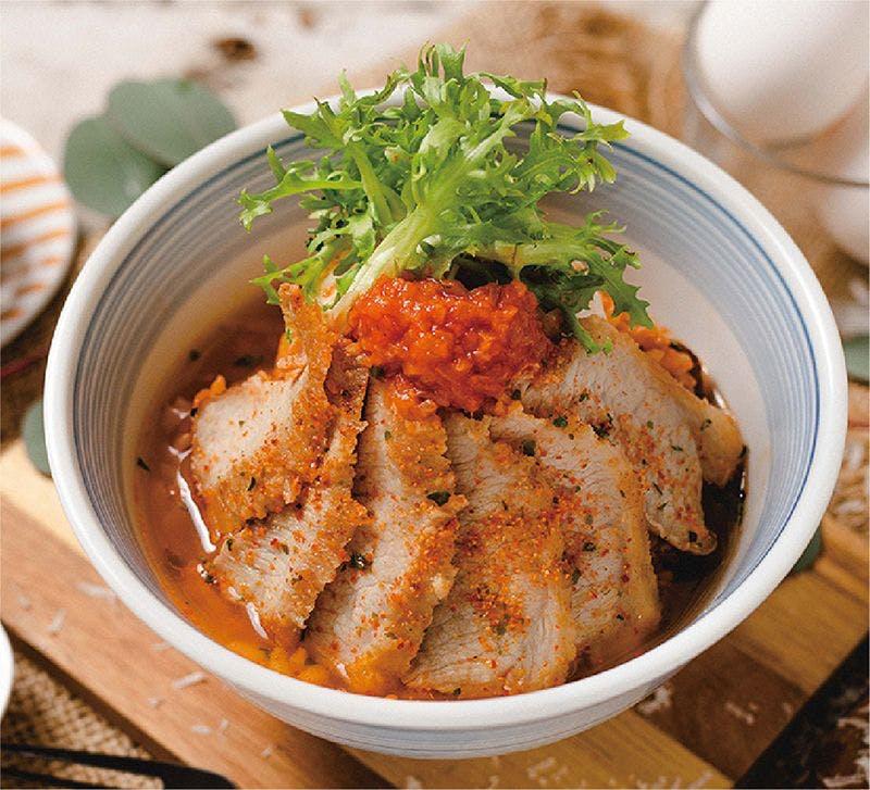 松阪豬泡菜起司湯丼飯🌶